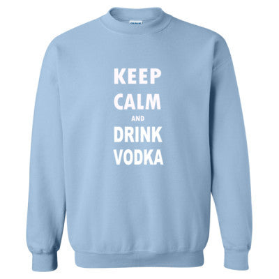 Keep Calm And Drink Vodka - Heavy Blend™ Crewneck Sweatshirt S-Light Blue- Cool Jerseys - 1