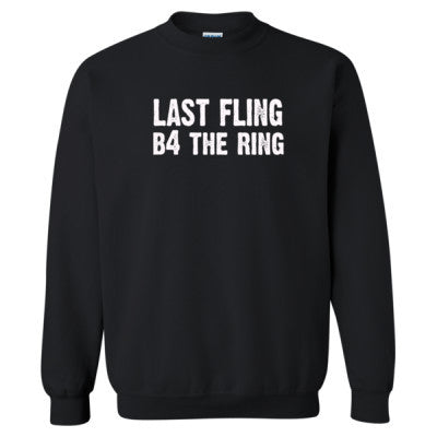 Last Fling Before The Ring tshirt - Heavy Blend™ Crewneck Sweatshirt S-Black- Cool Jerseys - 1