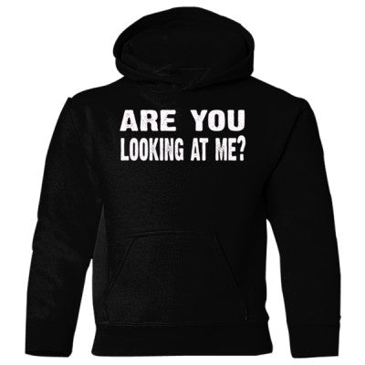 Are you looking at me Heavy Blend Children's Hooded Sweatshirt S-Black- Cool Jerseys - 1