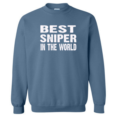 Best Sniper In The World - Heavy Blend™ Crewneck Sweatshirt S-Indigo Blue- Cool Jerseys - 1