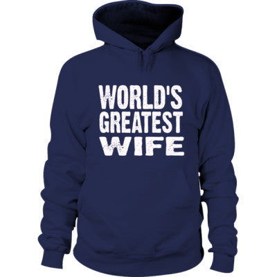 Worlds Greatest Wife - Hoodie S-Navy- Cool Jerseys - 1