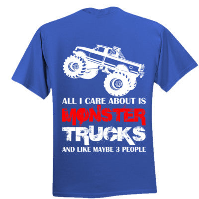 Cool Kids Monster Truck Tee - Boys Ultra Cotton XS-Royal- Cool Jerseys - 1