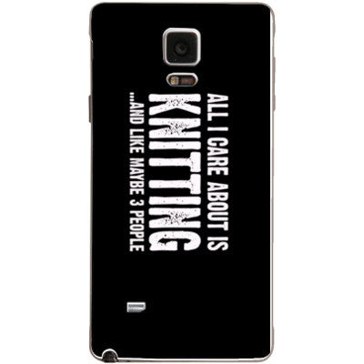 All i Care About is Knitting And Like Maybe Three People - Samsung Note 4 Cover - FREE SHIPPING WITHIN USA OS-Clear- Cool Jerseys