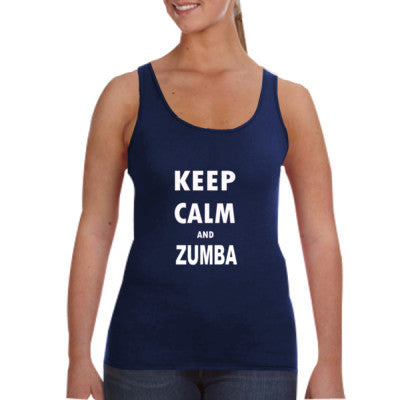Keep Calm And Zumba - Ladies Tank Top - Cool Jerseys - 1