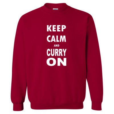 Keep Calm And Curry On - Heavy Blend™ Crewneck Sweatshirt S-Cardinal Red- Cool Jerseys - 1