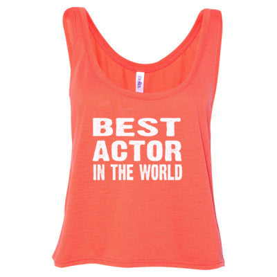 Best Actor In The World - Ladies' Cropped Tank Top - Cool Jerseys - 1