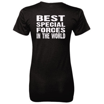 Best Special Forces In The World - Ladies' 100% Ringspun Cotton nano-T® Back Print Only - Cool Jerseys - 1
