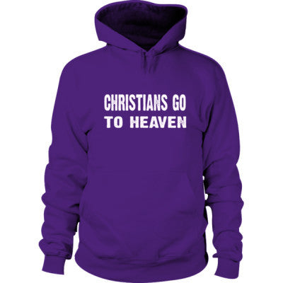 Christians go to heaven Hoodie S-Purple- Cool Jerseys - 1