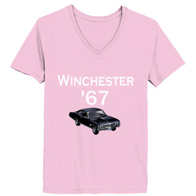 Impala 1967 Supernatural Tshirt XS-Pale Pink- Cool Jerseys - 1