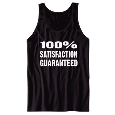 100% Satisfaction Guaranteed tshirt - Unisex Tank S-Black- Cool Jerseys - 1