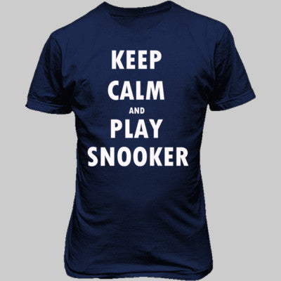 Keep Calm And Play Snooker - Unisex T-Shirt FRONT Print S-Metro Blue- Cool Jerseys - 1