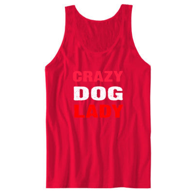 Crazy Dog Lady tshirt - Unisex Jersey Tank - Cool Jerseys - 1