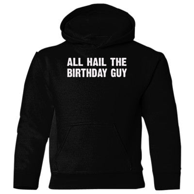 All Hail the birthday guy Heavy Blend Children's Hooded Sweatshirt S-Black- Cool Jerseys - 1
