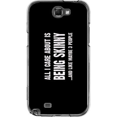 All i Care About Is being skinny - Samsung Note 2 Cover - FREE SHIPPING WITHIN USA OS-Clear- Cool Jerseys