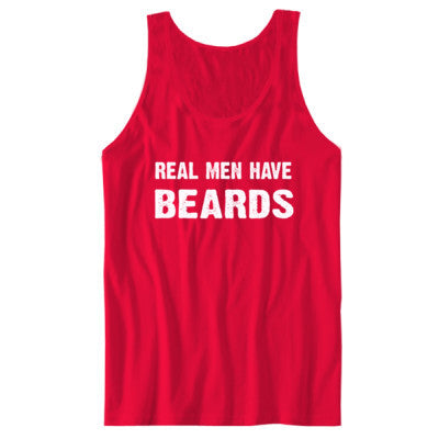 Real Men Have Beards tshirt - Unisex Jersey Tank - Cool Jerseys - 1