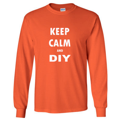 Keep Calm And DIY - Long Sleeve T-Shirt - Cool Jerseys - 1