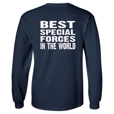 Best Special Forces In The World - Long Sleeve T-Shirt - BACK PRINT ONLY S-Navy- Cool Jerseys - 1