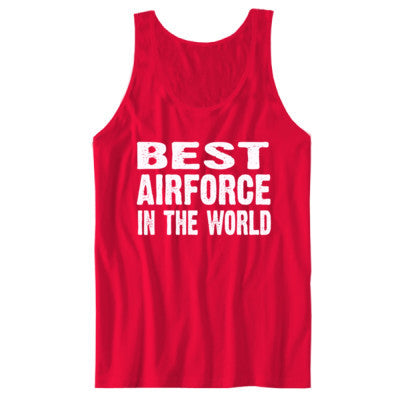Best Airforce In The World - Unisex Jersey Tank S-Red- Cool Jerseys - 1