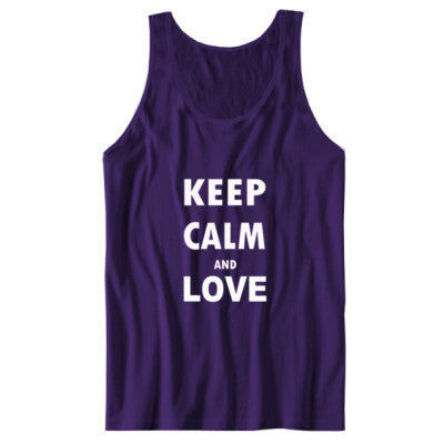 Keep Calm And Love - Unisex Jersey Tank - Cool Jerseys - 1
