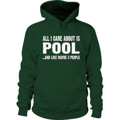 All i Care About Pool And Like Maybe Three People Hoodie - Cool Jerseys - 1