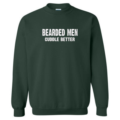 Bearded Men Cuddle Better tshirt - Heavy Blend™ Crewneck Sweatshirt S-Forest- Cool Jerseys - 1