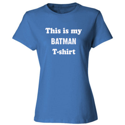 Batman T-shirt - Ladies' Cotton T-Shirt S-Carolina Blue- Cool Jerseys - 1
