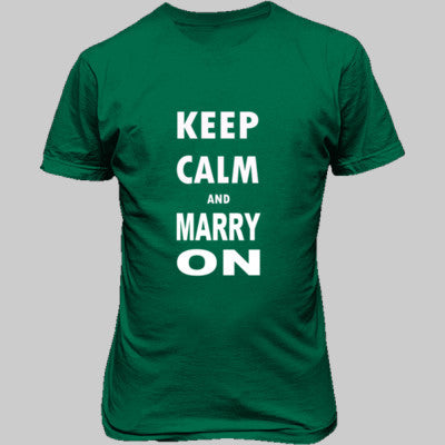 Keep Calm And Marry On - Unisex T-Shirt FRONT Print - Cool Jerseys - 1