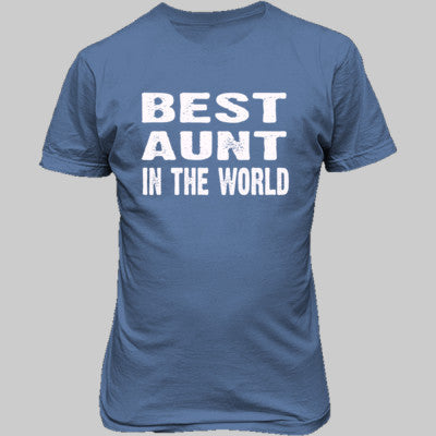 Best Aunt In The World - Unisex T-Shirt FRONT Print - Cool Jerseys - 1