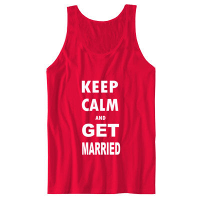 Keep Calm And Get Married - Unisex Jersey Tank - Cool Jerseys - 1