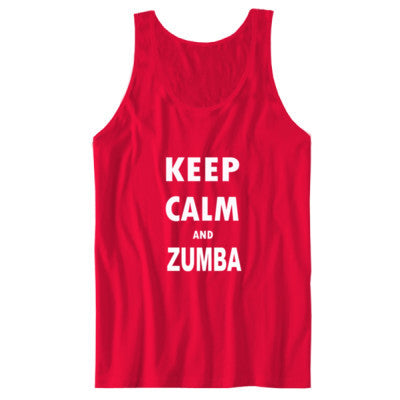 Keep Calm And Zumba - Unisex Jersey Tank S-Red- Cool Jerseys - 1
