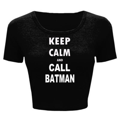 Keep Calm and Call Batman - Ladies' Crop Top - Cool Jerseys - 1
