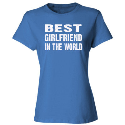 Best Girlfriend In The World - Ladies' Cotton T-Shirt S-Carolina Blue- Cool Jerseys - 1