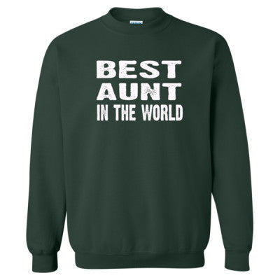 Best Aunt In The World - Heavy Blend™ Crewneck Sweatshirt S-Forest- Cool Jerseys - 1