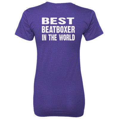 Best Beatboxer In The World - Ladies' 100% Ringspun Cotton nano-T® Back Print Only - Cool Jerseys - 1