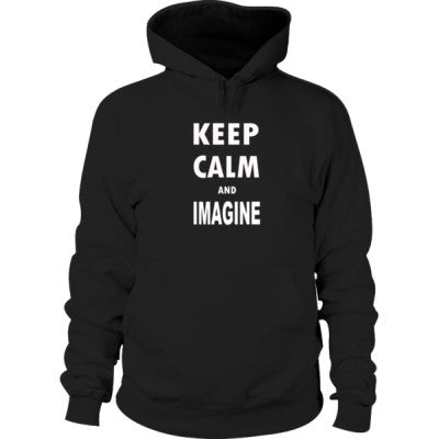 Keep Calm And Imagine - Hoodie S-Black- Cool Jerseys - 1
