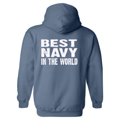 Best Navy In The World - Heavy Blend™ Hooded Sweatshirt BACK ONLY S-Indigo Blue- Cool Jerseys - 1