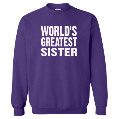 Worlds Greatest Sister - Heavy Blend™ Crewneck Sweatshirt S-Purple- Cool Jerseys - 1