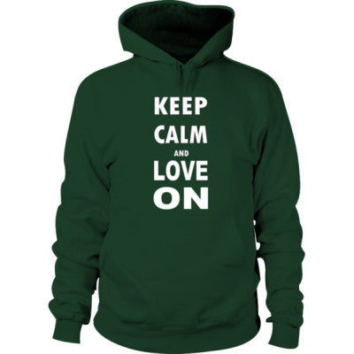 Keep Calm And Love On - Hoodie S-Forest Green- Cool Jerseys - 1