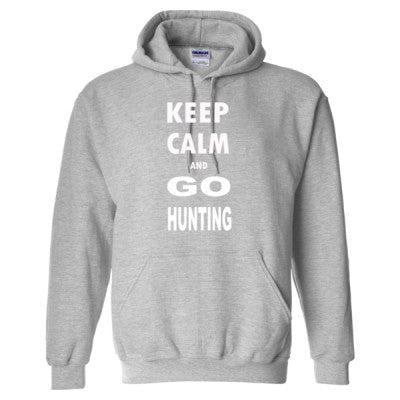 Keep Calm And Go Hunting - Heavy Blend™ Hooded Sweatshirt S-Sport Grey- Cool Jerseys - 1