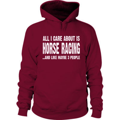 All i Care About Horse Racing And Like Maybe Three People Hoodie - Cool Jerseys - 1