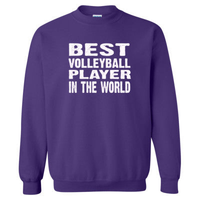 Best Volleyball Player In The World - Heavy Blend™ Crewneck Sweatshirt S-Purple- Cool Jerseys - 1