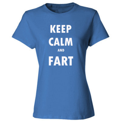 Keep Calm And Fart - Ladies' Cotton T-Shirt - Cool Jerseys - 1