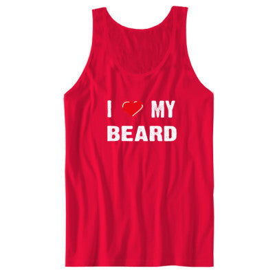 I Love My Beard tshirt - Unisex Jersey Tank S-Red- Cool Jerseys - 1