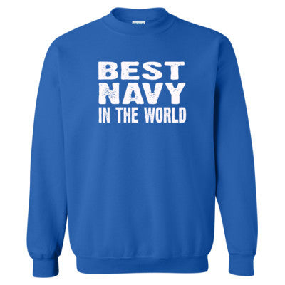 Best Navy In The World - Heavy Blend™ Crewneck Sweatshirt S-Royal- Cool Jerseys - 1