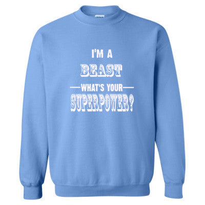 Im A Beast - Heavy Blend™ Crewneck Sweatshirt S-Carolina Blue- Cool Jerseys - 1