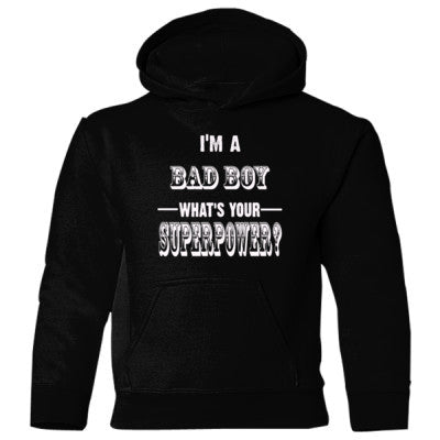 Im A Bad Boy - Heavy Blend Children's Hooded Sweatshirt S-Black- Cool Jerseys - 1