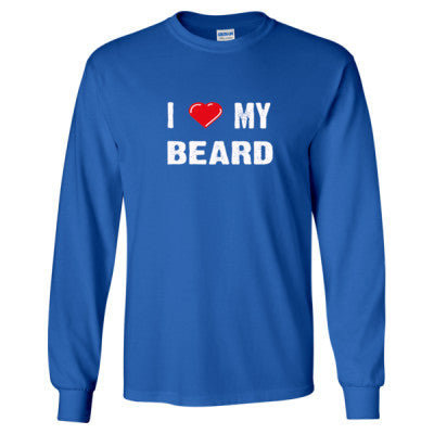I Love My Beard tshirt - Long Sleeve T-Shirt S-Royal- Cool Jerseys - 1