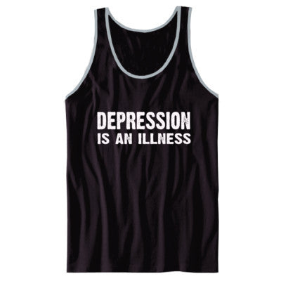 Depression Is An Illness Tshirt - Unisex Jersey Tank XS-Black- Cool Jerseys - 1