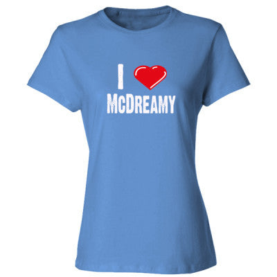 I Love McDreamy tshirt - Ladies' Cotton T-Shirt S-Carolina Blue- Cool Jerseys - 1