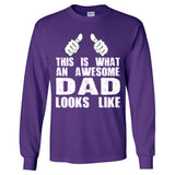 This is What An Awesome Dad Looks Like - Long Sleeve T-Shirt - Cool Jerseys - 5